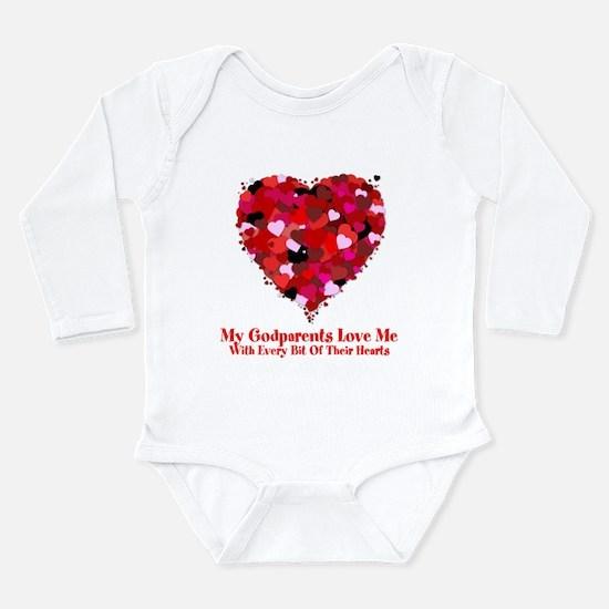 Godparents Love Me Valentine Long Sleeve Infant Bo