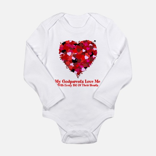 Godparents Love Me Valentine Onesie Romper Suit