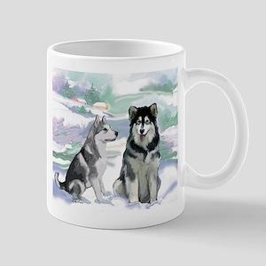 Alaskan Malamute Winter Mug