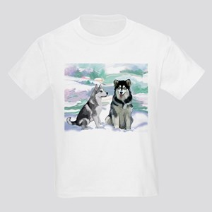 Alaskan Malamute Winter Kids Light T-Shirt