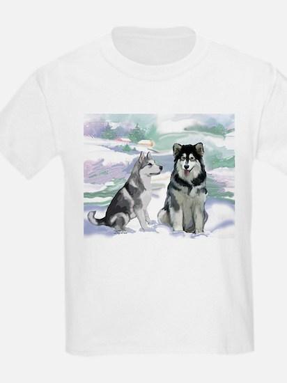 Alaskan Malamute Winter T-Shirt