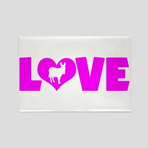 LOVE DONKEY Rectangle Magnet