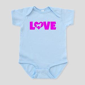 LOVE GOLDEN RETRIEVER Infant Bodysuit