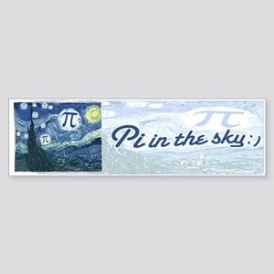 Pi in the Sky Sticker (Bumper)
