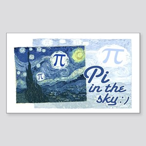 Pi in the Sky Sticker (Rectangle)