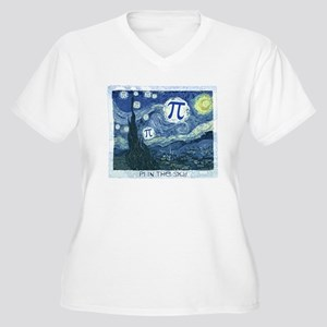 Pi in the Sky Women's Plus Size V-Neck T-Shirt
