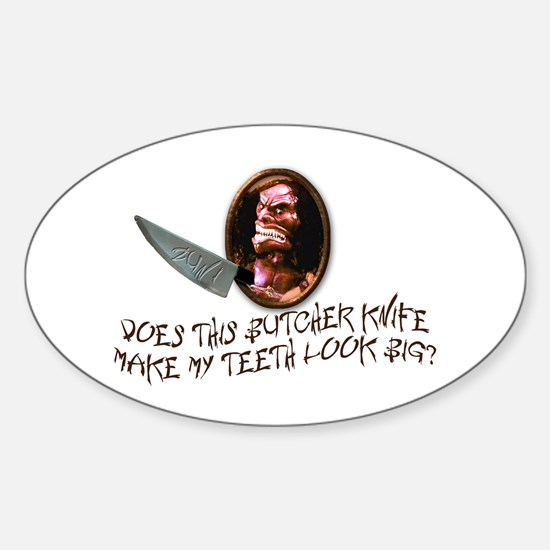 Trilogy of Terror! Sticker (Oval)