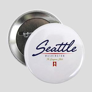 "Seattle Script 2.25"" Button"