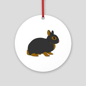 Netherland Dwarf Rabbit Ornament (Round)