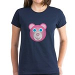 Women's 12 Hugs Bear Black T-Shirt