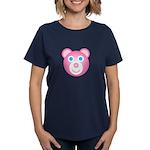 Women's 12 Hugs Bear Black T-Shirt