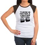 There is never a lighter opti Women's Cap Sleeve T