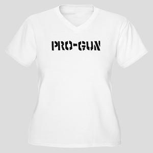 Pro-Gun Women's Plus Size V-Neck T-Shirt