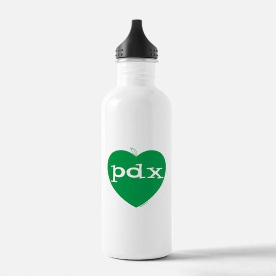 Funny I heart oregon Water Bottle