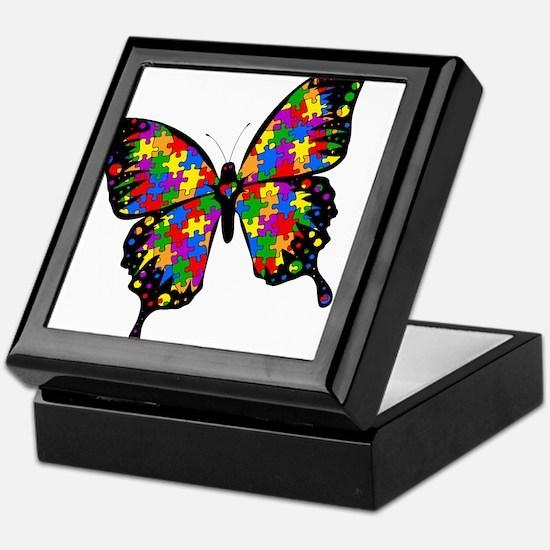 Autism Butterfly Keepsake Box