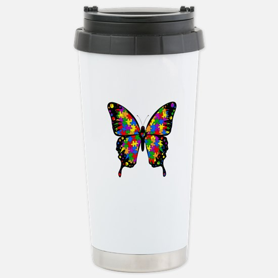 Autism Butterfly Stainless Steel Travel Mug