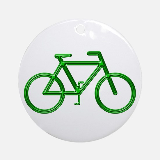 """Green Bike"" Ornament (Round)"