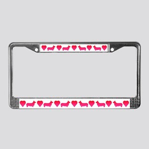 Corgi License Plate Frame