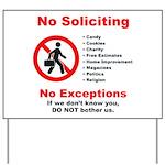 No Soliciting Yard Sign #2