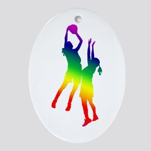 Women's Basketball Ornament (Oval)