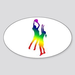 Women's Basketball Sticker (Oval)