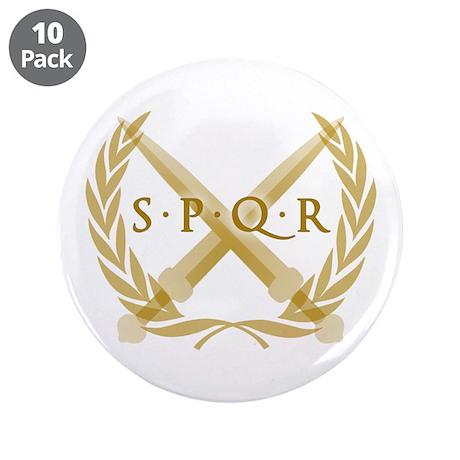 """SPQR Roman Republic 3.5"""" Button (10 pack)"""