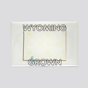 Wyoming grown Rectangle Magnet
