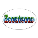 Zacatecas 1a Sticker (Oval 50 pk)
