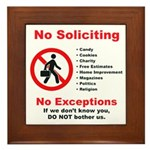 No Soliciting Sign #2