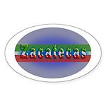Zacatecas 1g Sticker (Oval 10 pk)