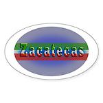 Zacatecas 1g Sticker (Oval 50 pk)