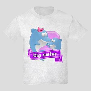 Big Sister Dolphin Kids Light T-Shirt