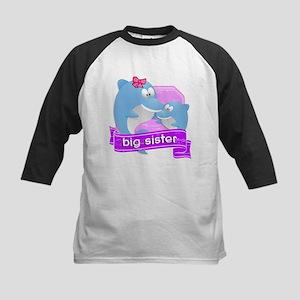 Big Sister Dolphin Kids Baseball Jersey