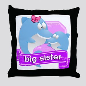 Big Sister Dolphin Throw Pillow