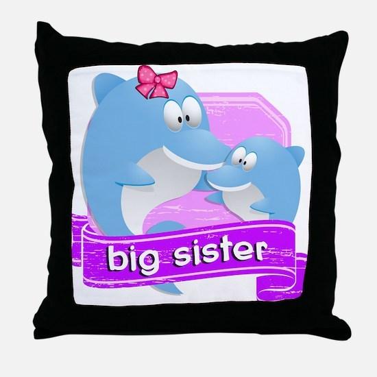 Big Sister Dolphin Throw Pillow