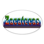 Zacatecas - 1b Sticker (Oval 10 pk)