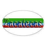 Zacatecas - 1d Sticker (Oval 10 pk)