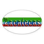 Zacatecas - 1d Sticker (Oval 50 pk)