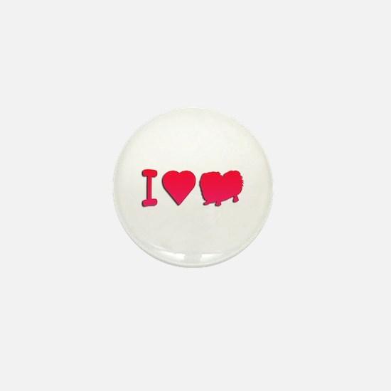 Pekingese Mini Button