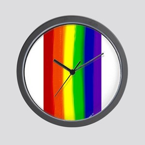 Gay Rainbow Art Wall Clock