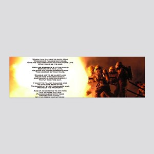 Fireman's Prayer 42x14 Wall Peel