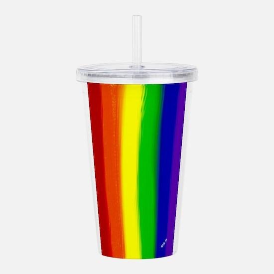 Gay Rainbow Art Acrylic Double-wall Tumbler