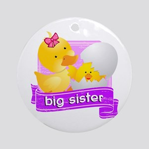 Big Sister Duckling Ornament (Round)
