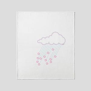 Raining Love Throw Blanket