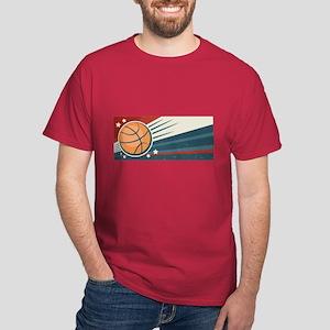 Vintage Basketball Dark T-Shirt