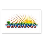 Zacatecas Sol Sticker (Rectangle)