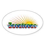 Zacatecas Sol Sticker (Oval 10 pk)