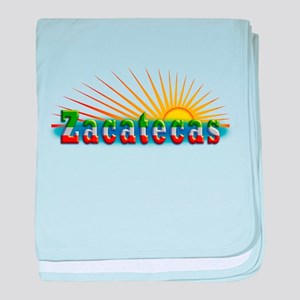 Zacatecas Sol baby blanket