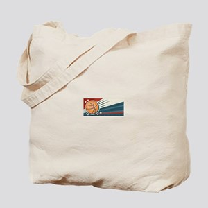 Vintage Basketball Tote Bag