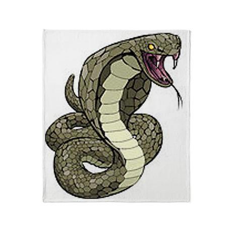 Cobra Snake Throw Blanket